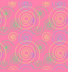 Dancing swirl seamless pattern vector