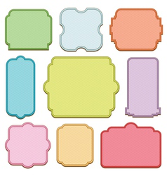 decorative blank frames vector image vector image