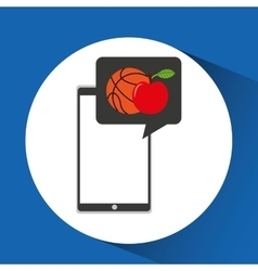 Education online smartphone app sports apple vector