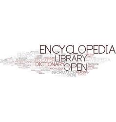 Encyclopedia word cloud concept vector