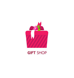 Gift box logo vector
