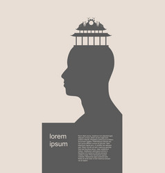 head with factory for brain vector image vector image