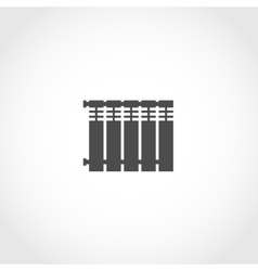Heat radiator icon vector