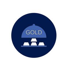 In flat design of gold blocks vector