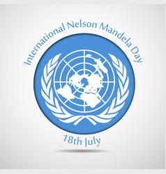 International mandela day vector
