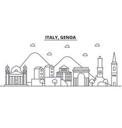 Italy genoa architecture line skyline vector