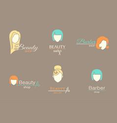 logo template - barbershop vector image vector image