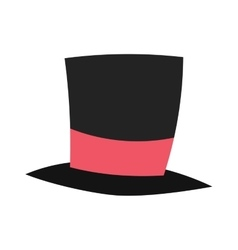 magic conjurer cylinder hat vector image