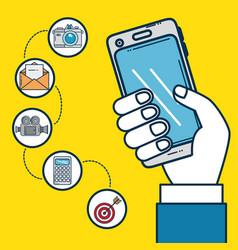 marketing online design vector image