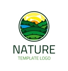 Nature template logo vector