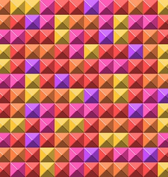Pale pyramid tiles pattern vector image