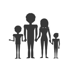 pictogram family love members vector image