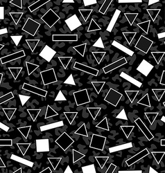 Retro black and white pattern with geometric shape vector