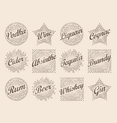 retro design sunburst label radiant starburst for vector image