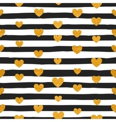 Seamless pattern of gold hearts vector image vector image