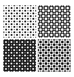 seamless patterns with dotted circles vector image vector image