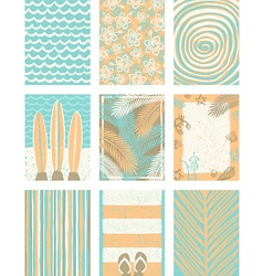 Set of summer vacation backgrounds vector