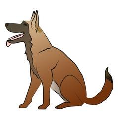 Shepherd dog vector image