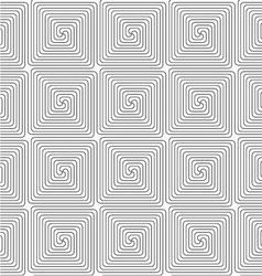 Slim gray square spirals vector image vector image