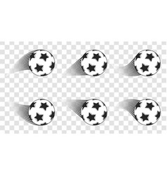 soccer ball football shot isolated on a vector image vector image