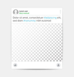 Social photo frame template transparent vector