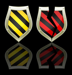 two shields vector image