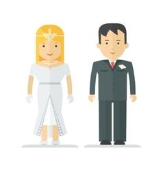 Wedding happy couple vector