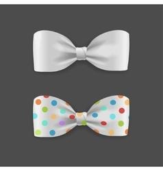 White bow tie set vector