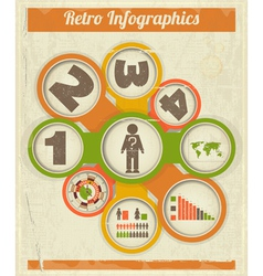 Vintage retro infographics design vector