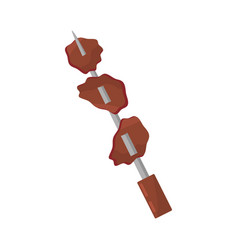 Skewer snack grilled picnic vector