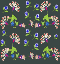 Ethnic flower vector