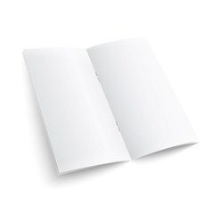 Blank paper brochure with clips vector image