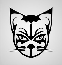 Cat face tattoo vector