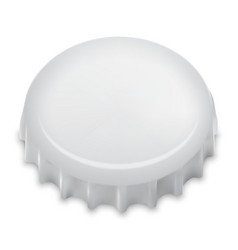 Realistic bottle cap on white vector