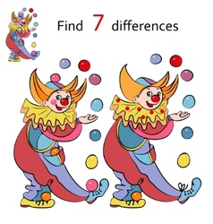 Clowns find the differences vector