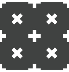 Plus symbol pattern vector image