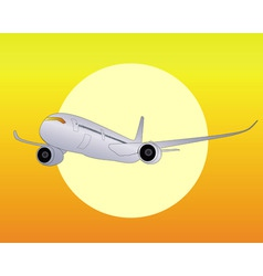 silver airplane vector image