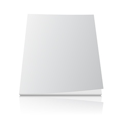 Blank magazine template cover on white vector