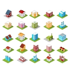 Icons isometric vector