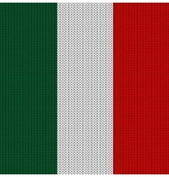 Knitted flag of italy vector