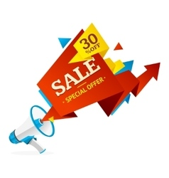 Discount banner sticker vector