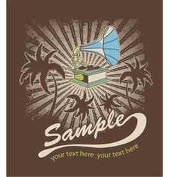 music t-shirt design vector image