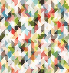 Pixel seamless pattern of colored triangles vector