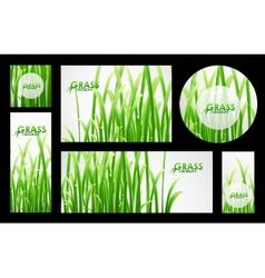 Set of grass banners vector