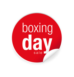 boxing day label tag sticker vector image vector image