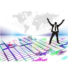 businessman silhouetted vector image