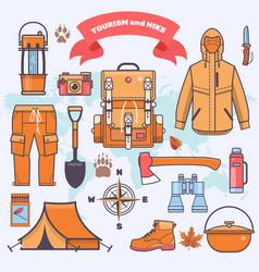 Camping and hiking vector