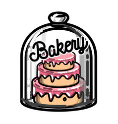 Color vintage bakery emblem vector