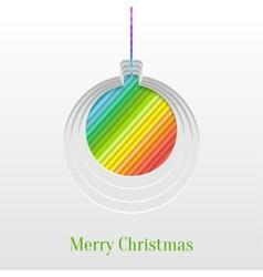 Creative christmas ball greeting card vector