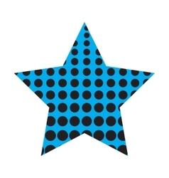 Dotted Five Pointed Star Icon vector image